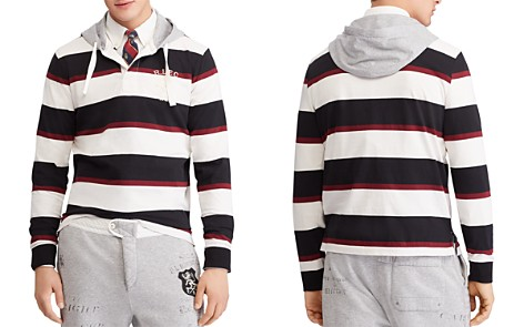 Polo Ralph Lauren Polo Striped Hooded Rugby Shirt - Bloomingdale's_2