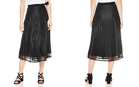 Sandro Pleated Eyelet Lace Midi Skirt - Bloomingdale's_2