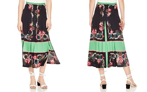 Sandro Devy Color-Blocked Floral Midi Skirt - Bloomingdale's_2