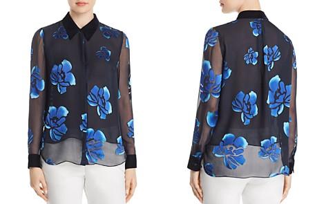 Elie Tahari Martha Burnout Floral Blouse - Bloomingdale's_2
