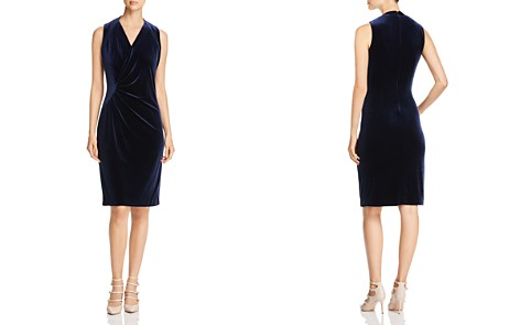 Elie Tahari Dolly Velvet Sheath Dress - Bloomingdale's_2