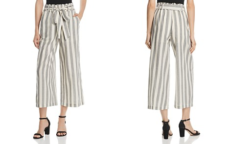 AQUA Paperbag-Waist Striped Palazzo Pants - 100% Exclusive - Bloomingdale's_2