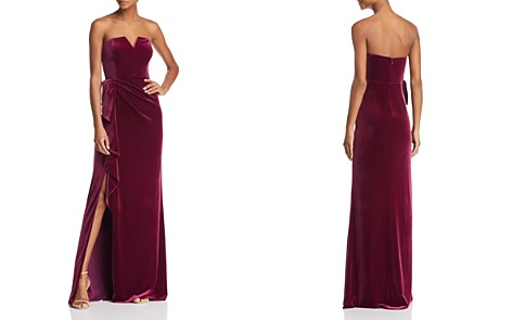 Aidan Mattox Strapless Velvet Gown - 100% Exclusive - Bloomingdale's_2