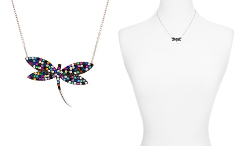 "AQUA Multicolor Dragonfly Pendant Necklace, 15"" - 100% Exclusive - Bloomingdale's_2"