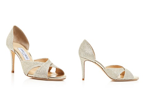 Jimmy Choo Women's Lara 85 Glitter d'Orsay High-Heel Sandals - Bloomingdale's_2