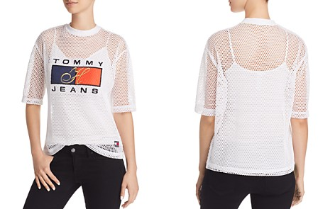 Tommy Jeans '90s Logo Mesh Tee - Bloomingdale's_2