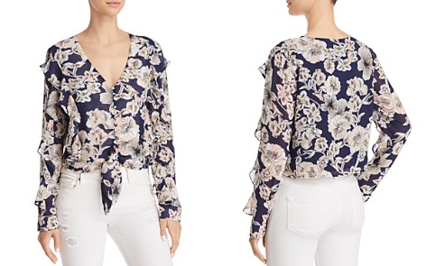 Bardot Tully Ruffled Floral Tie-Front Top - Bloomingdale's_2