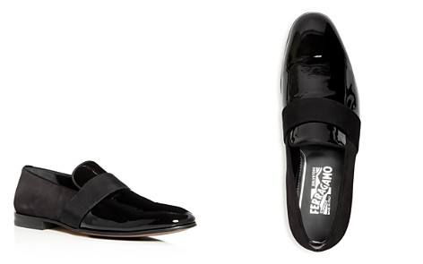 Salvatore Ferragamo Men's Bryden Suede & Patent Leather Smoking Slippers - Bloomingdale's_2