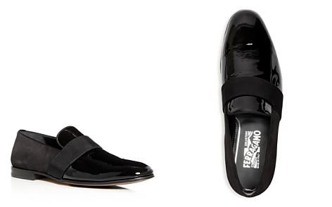 Salvatore Ferragamo Men's Bryden Suede & Patent Leather Smoking Slippers - Bloomingdale's_2