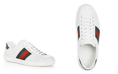Gucci Men's Ace Leather Lace Up Sneakers - Bloomingdale's_2