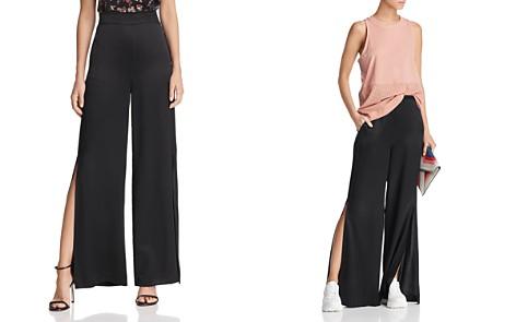 CAMI NYC Miles Side-Slit Wide-Leg Silk Pants - Bloomingdale's_2