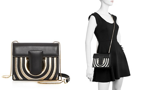 Salvatore Ferragamo Thalia Small Striped Leather Crossbody - Bloomingdale's_2