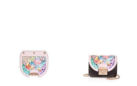 Furla MY PLAY Interchangeable Metropolis Mini Laser-Cut Butterfly Floral Print Leather Flap - Bloomingdale's_2
