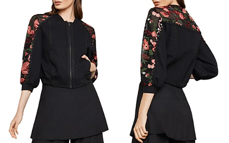 BCBGMAXAZRIA Embroidered Cropped Bomber Jacket - Bloomingdale's_2
