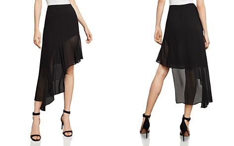 BCBGMAXAZRIA Asymmetric Ruffled Skirt - Bloomingdale's_2