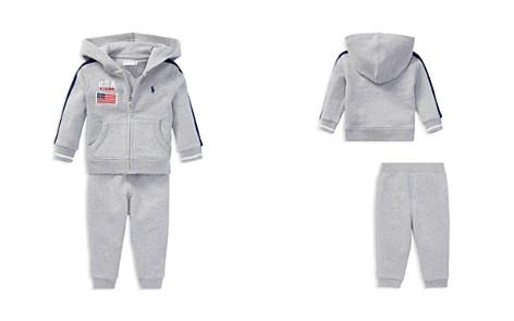 Ralph Lauren Boys' French Terry Americana Zip-Up Hoodie & Jogger Pants Set - Baby - Bloomingdale's_2