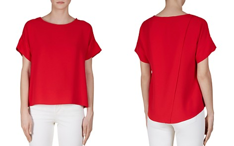 Gerard Darel Cerise Asymmetric Back Vent Top - Bloomingdale's_2