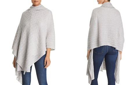 C by Bloomingdale's Cable-Knit Cashmere Travel Wrap - 100% Exclusive _2