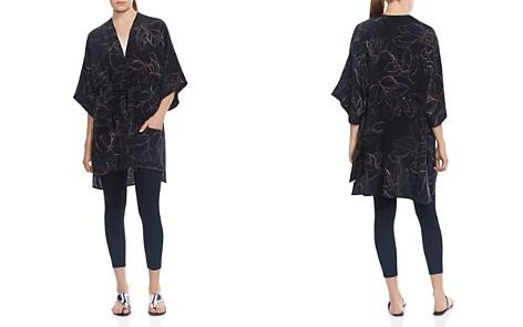 HALSTON HERITAGE Abstract Leaf-Print Kaftan Jacket - Bloomingdale's_2