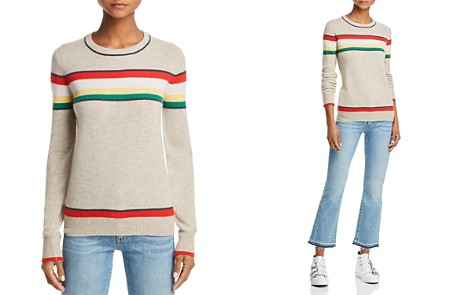 AQUA Striped Cashmere Sweater - 100% Exclusive - Bloomingdale's_2