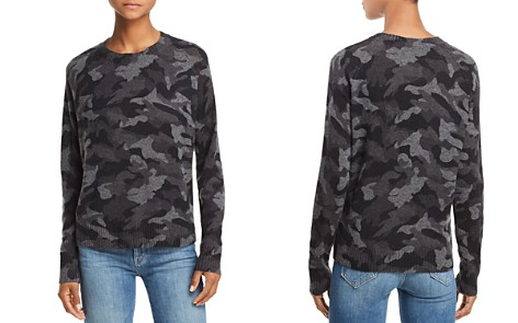 AQUA Camo Crewneck Cashmere Sweater - 100% Exclusive - Bloomingdale's_2