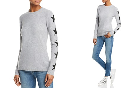 AQUA Cashmere Star-Sleeve Cashmere Sweater - 100% Exclusive - Bloomingdale's_2
