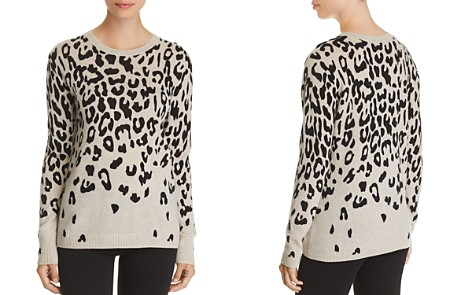 C by Bloomingdale's Cascade Leopard Cashmere Sweater - 100% Exclusive _2