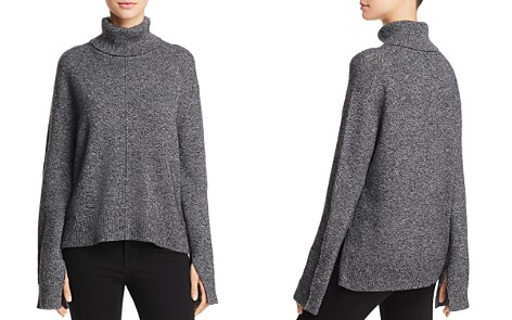 AQUA Cashmere Seamed Cashmere Turtleneck Sweater - 100% Exclusive - Bloomingdale's_2