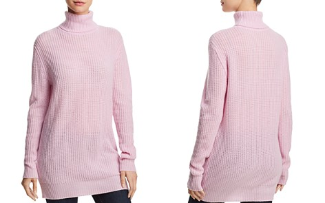 AQUA Cashmere Cashmere Turtleneck Tunic - 100% Exclusive - Bloomingdale's_2