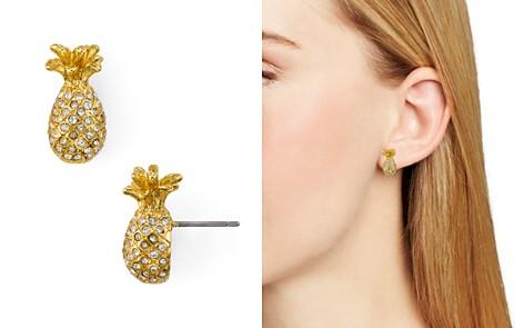 kate spade new york Pavé Mini Pineapple Stud Earrings - Bloomingdale's_2