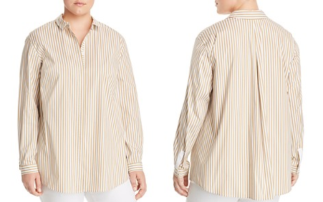 Lafayette 148 New York Plus Sabira Striped Button-Down Blouse - Bloomingdale's_2