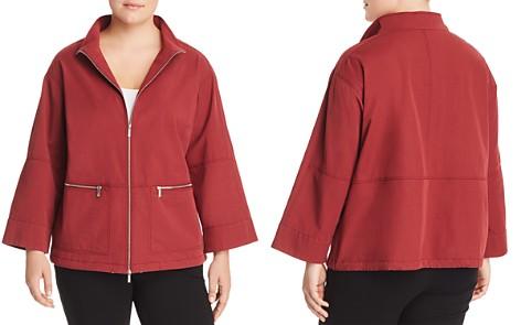Lafayette 148 New York Plus Kellen Zip-Front Jacket - Bloomingdale's_2