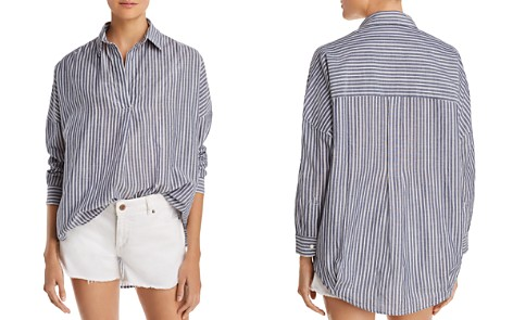FRENCH CONNECTION Tatus Striped Cotton Top - Bloomingdale's_2