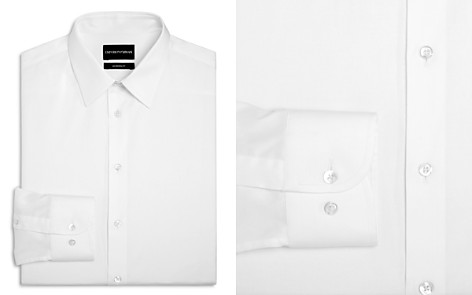 Emporio Armani Twill Basic Regular Fit Dress Shirt - Bloomingdale's_2