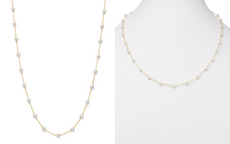 "Bloomingdale's Cultured Freshwater Pearl Station Necklace in 14K Yellow Gold, 24"" - 100% Exclusive _2"