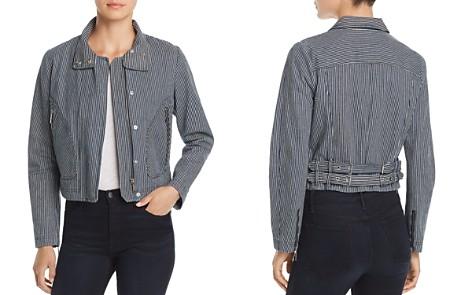 T Tahari Cristina Engineer-Stripe Moto Jacket - Bloomingdale's_2