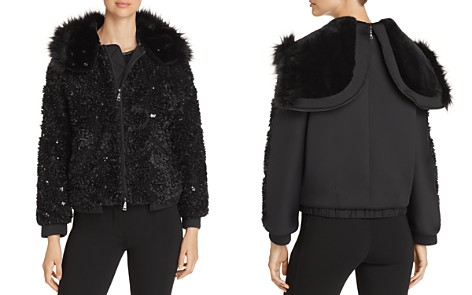 Emporio Armani Sequined Hooded Bomber Jacket - Bloomingdale's_2