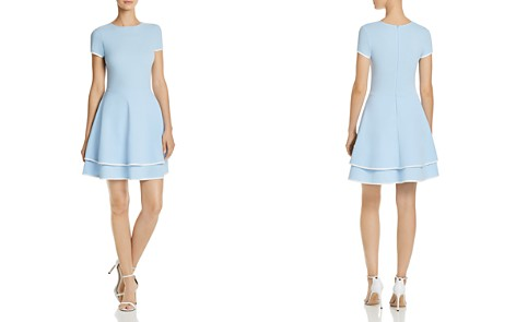 AQUA Tiered Piped Fit-and-Flare Dress - 100% Exclusive - Bloomingdale's_2