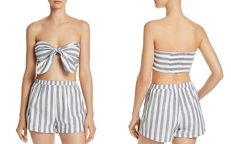 AQUA Stripe Bandeau Top - 100% Exclusive - Bloomingdale's_2