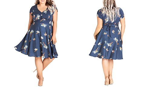 City Chic Plus Sweet Spot Floral-Print Fit-and-Flare Dress - Bloomingdale's_2