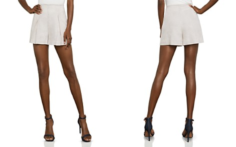 BCBGMAXAZRIA Stripe Pleated Shorts - Bloomingdale's_2
