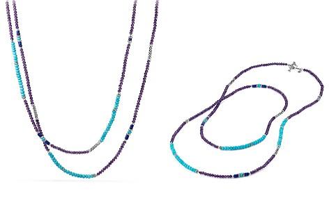 David Yurman Tweejoux Bead Necklace in Amethyst, Turquoise & Lapis Lazuli - Bloomingdale's_2
