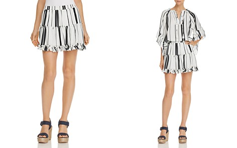 AQUA Striped Tiered Mini Skirt - 100% Exclusive - Bloomingdale's_2