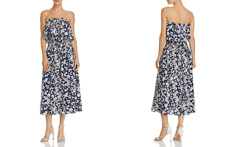 AQUA Floral Print Smocked Strapless Dress - 100% Exclusive - Bloomingdale's_2