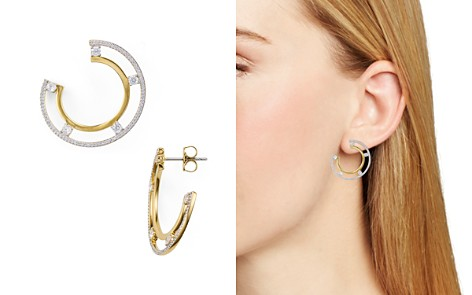 Nadri Trio Two-Tone Offset Hoop Earrings - Bloomingdale's_2
