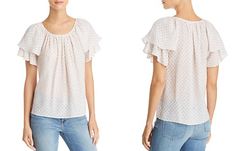 Rebecca Taylor Ikat Dot Flutter Top - Bloomingdale's_2