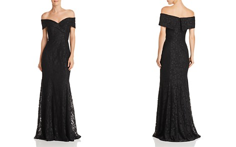AQUA Off-the-Shoulder Lace Gown - 100% Exclusive - Bloomingdale's_2