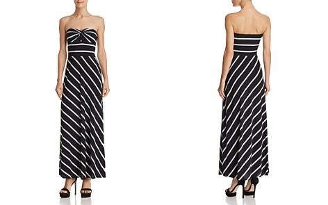 AQUA Strapless Striped Maxi Dress - 100% Exclusive - Bloomingdale's_2