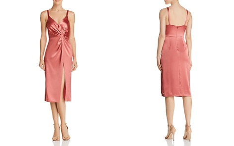 Jill Jill Stuart Satin Twist-Front Dress - Bloomingdale's_2