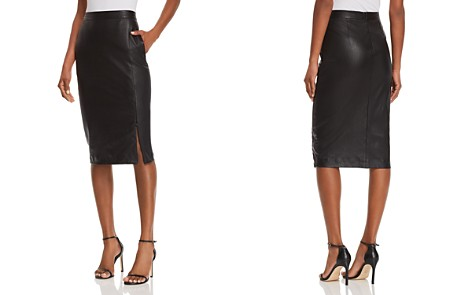 Theory Leather Pencil Skirt - Bloomingdale's_2
